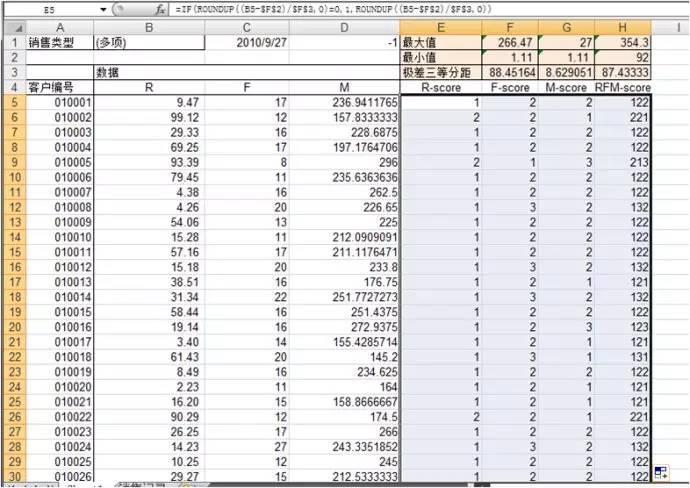 如何利用Excel2007做RFM细分客户群