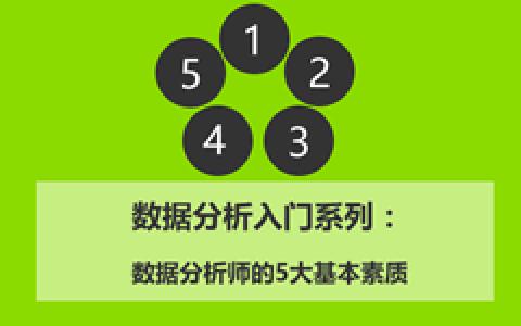 数据分析入门5:数据分析师的5大基本素质