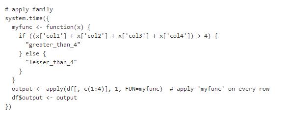 利用apply族函数来替代for循环语句