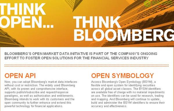 大数据的滚床单高手:Bloomberg彭博