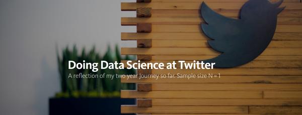 在twitter搞数据科学是怎样一种体验?