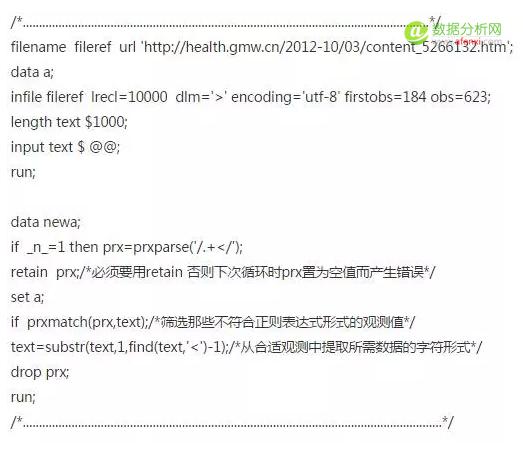 SAS网络爬虫抓取网页数据-数据分析网