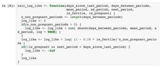 一个计算我的妻子是否怀孕的贝叶斯模型