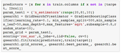 用Python进行梯度提升算法的参数调整