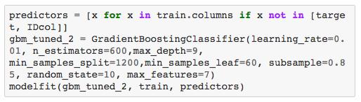 用Python进行梯度提升算法的参数调整-数据分析网