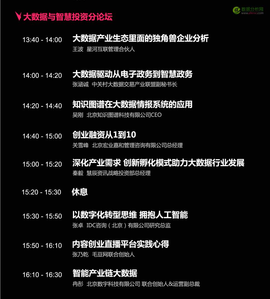 CDAS 2017中国数据分析师行业峰会议程(完整版)-数据分析网