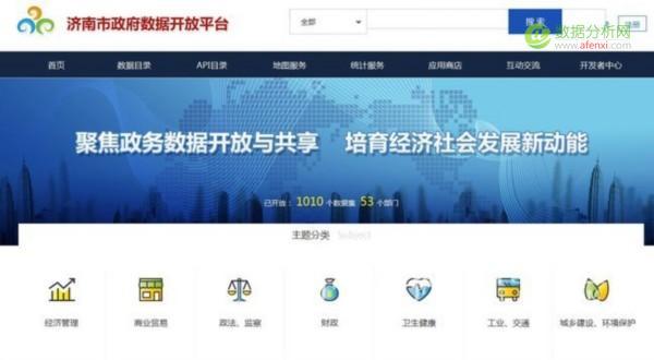 济南政府大数据向社会开放,涵盖53个部门千余数据集-数据分析网