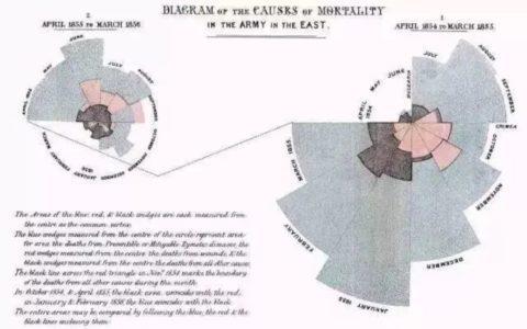 一个与战争、瘟疫、感染、死亡率有关的图形——南丁格尔玫瑰图