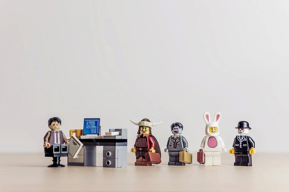 兔子, 业务, 商人, 职业生涯, 客户端, 办公桌, 图, 塑像, 沮丧, 怪胎, 家伙, Hr, 面试