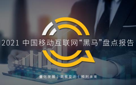 """QuestMobile:2021中国移动互联网""""黑马""""盘点报告"""